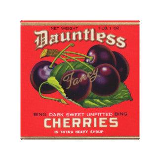 Dreißigerjahre Dauntless Kirschen im schweren Leinwanddruck