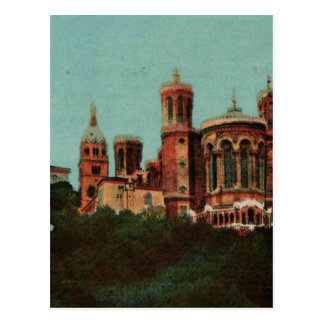 Dreißigerjahre Lyons Notre Dame de Fourviere Postkarte