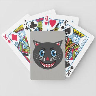 Dreißigerjahre Vintage schwarze Katzen-Spielkarten Bicycle Spielkarten