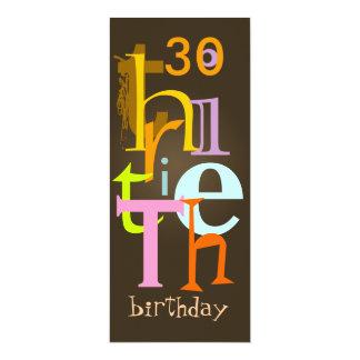 Dreißigste Geburtstags-Party Einladungen