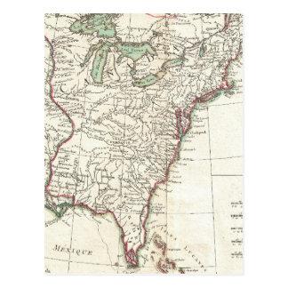 Dreizehn Kolonien-Vintage Karte (1776)