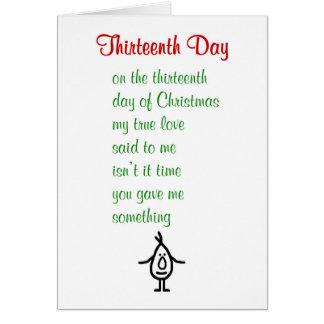 Dreizehnter Tag - ein lustiges Weihnachtsgedicht Karte