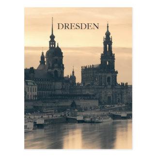 Dresden am Sonnenuntergang Postkarte