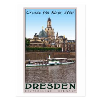Dresden - auf der Elbe Postkarte