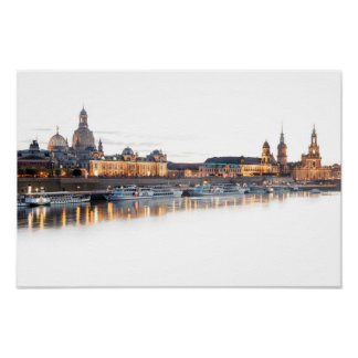 Dresden nachts poster