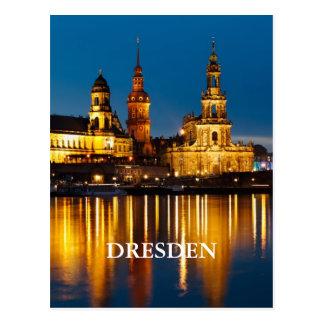 Dresden nachts postkarte