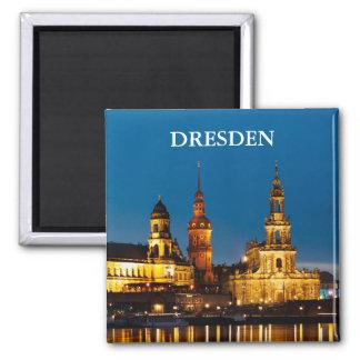 Dresden nachts quadratischer magnet