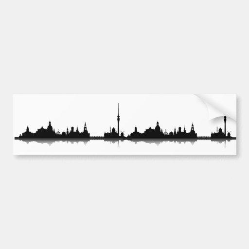 Dresden Skyline Aufkleber Autosticker