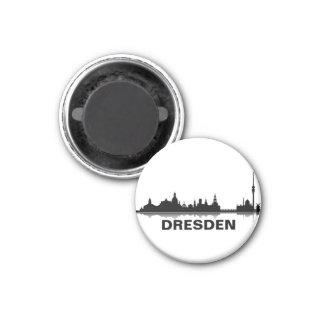 Dresden Skyline Kühlschrank Magnet Runder Magnet 3,2 Cm