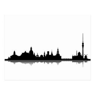 Dresden Skyline - Postkarte / Grußkarte