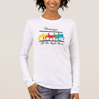 Dressage. Alle Recht-Bewegungen Langarm T-Shirt