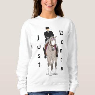 Dressage Grulla Pferd und Reiter Sweatshirt