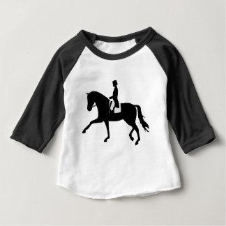 dressage horse baby t-shirt