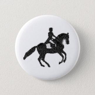 Dressage-Knopf - Mosaik-Pferd und Reiter Runder Button 5,7 Cm