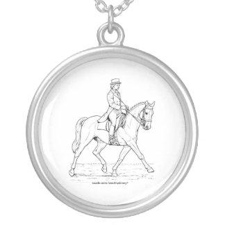 Dressage-Pferd Versilberte Kette