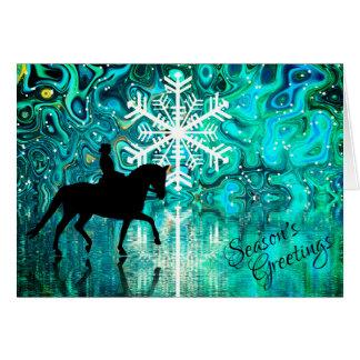 Dressage-PferdeWinterurlaub der Jahreszeit die Karte