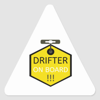 Drifter-an Bord Klaps-Aufkleber Dreieckiger Aufkleber