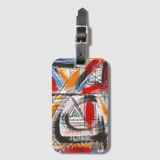 Dritte Auge-Hand gemalte abstrakte Kunst Gepäckanhänger