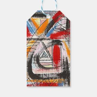 Dritte Auge-Hand gemalte abstrakte Kunst Geschenkanhänger