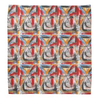 Dritte Auge-Hand gemalte abstrakte Kunst Kopftücher
