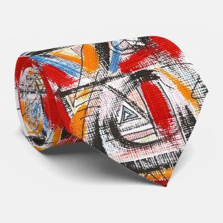 Dritte Auge-Hand gemalte abstrakte Kunst Personalisierte Krawatten