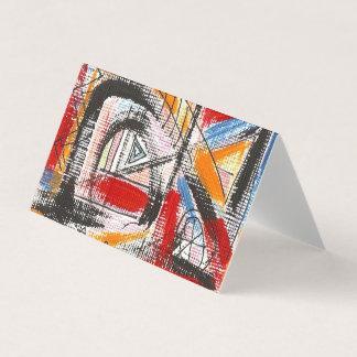 Dritte Auge-Hand gemalte abstrakte Kunst Visitenkarten