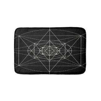 Dritte heilige dimensionalgeometrie badematten