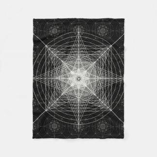 Dritte heilige dimensionalgeometrie fleecedecke