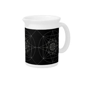 Dritte heilige dimensionalgeometrie getränke pitcher