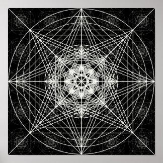 Dritte heilige dimensionalgeometrie poster