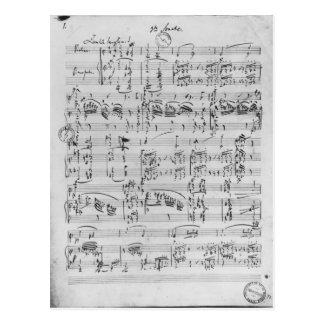 Dritte Sonate für Klavier und Violine Postkarte