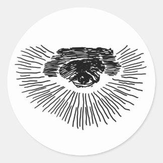 Drittes Auge Runde Aufkleber