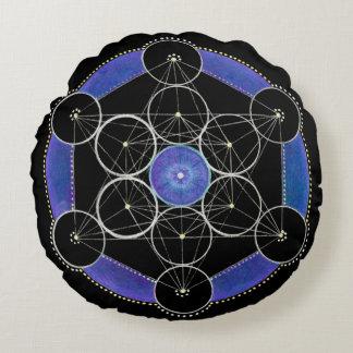 Drittes Auge, das Mandala-kundenspezifisches Rundes Kissen