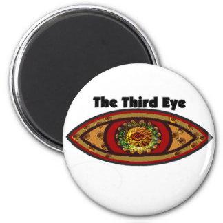 Drittes Auge durch Manda Runder Magnet 5,7 Cm