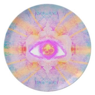 drittes Auge Flache Teller