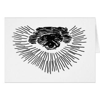 Drittes Auge Grußkarten
