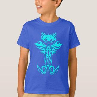 Drittes Auge mit den Flügeln cyan-blau T-Shirt