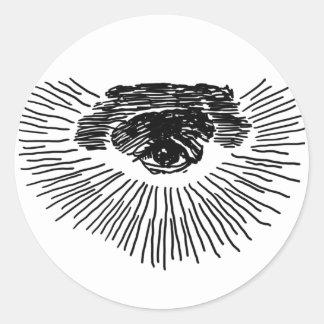 Drittes Auge Runder Aufkleber