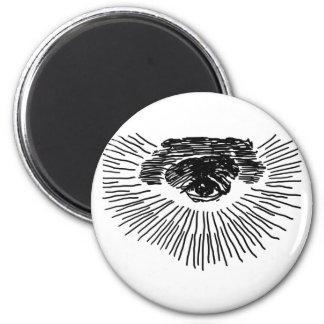 Drittes Auge Runder Magnet 5,7 Cm