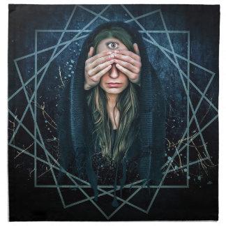 Drittes Augen-Augen-geistiges Intuitions-Symbol Stoffserviette