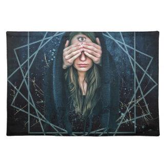 Drittes Augen-Augen-geistiges Intuitions-Symbol Tischset