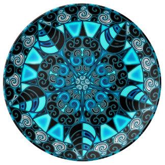 Drittes Augen-Mandala Teller Aus Porzellan