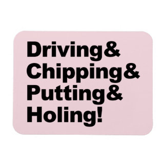 Driving&Chipping&Putting&Holing (Schwarzes) Magnet