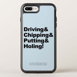 Driving&Chipping&Putting&Holing (Schwarzes) OtterBox Symmetry iPhone 8 Plus/7 Plus Hülle