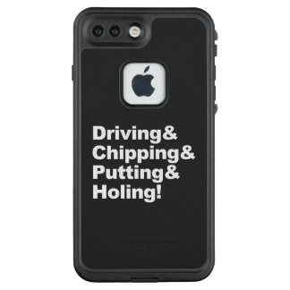 Driving&Chipping&Putting&Holing (weiß) LifeProof FRÄ' iPhone 8 Plus/7 Plus Hülle
