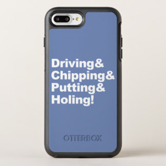 Driving&Chipping&Putting&Holing (weiß) OtterBox Symmetry iPhone 8 Plus/7 Plus Hülle