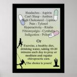 Drogen oder natürliche Chiropraktik-Sorgfalt Poster