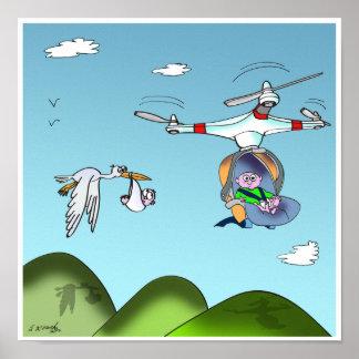 Drohne-Cartoon 9482 Poster