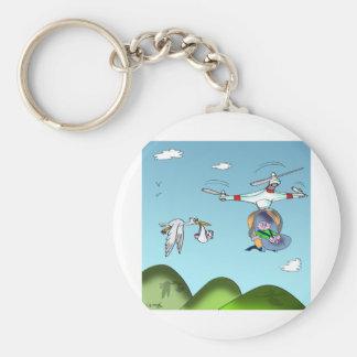 Drohne-Cartoon 9482 Schlüsselanhänger