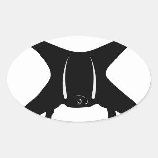 Drohne-Fliegen Ovaler Aufkleber